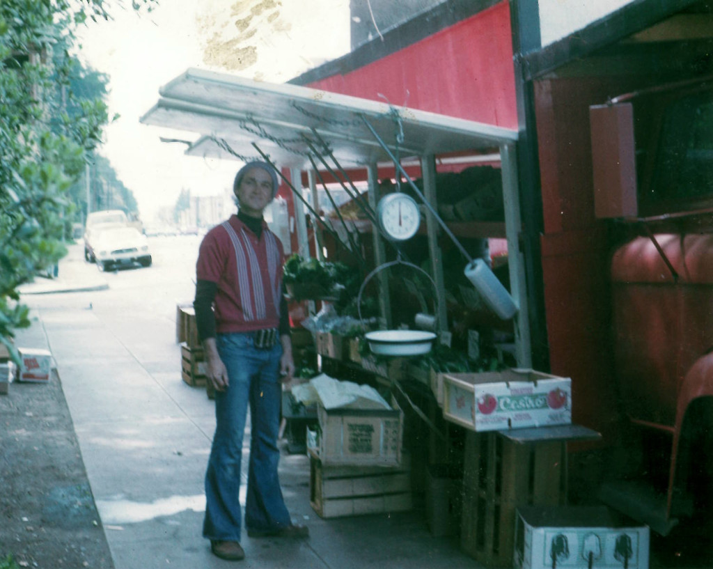 Earl with fruit truck 1977