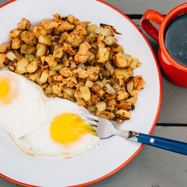 Fennel Sausage Hash with egg